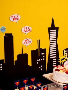Superhero Birthday Party Ideas | Photo 16 of 31 | Catch My Party