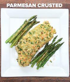 One-Pan Parmesan Crusted Salmon