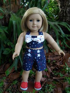 2 Piece Patriotic Play suit fits American by WeeWhimzyWardrobe, $18.00