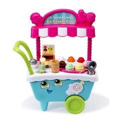 LeapFrog Scoop & Learn Ice Cream Cart Learning is sweet when pretending to run your own ice cream cart! The Scoop & Learn Ice Cream Cart lets you create Ice Cream Scooper, Ice Cream Cart, Ice Cream Treats, First Birthday Gifts, First Birthdays, Toddler Toys, Kids Toys, Toys Uk, Toddler Age