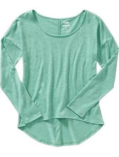 Girls Relaxed-Fit Hi-Lo Tees