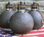 Ceramic Stoneware Weatherworn Cannonball Beer Growler