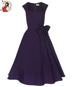 Vintage Purple 50s style dress