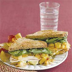 Turkey, Brie and Pear Sandwiches | MyRecipes.com