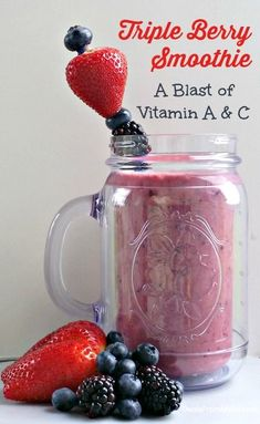 Beat the heat, save money, and calories. Create your own Triple Berry Smoothie with your favorite berries.