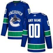 mens vancouver canucks adidas blue authentic custom jersey