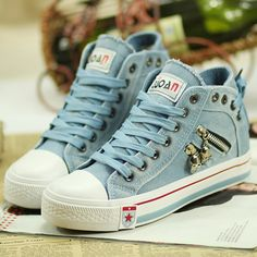 5569b29428f6 2018 Women s Vulcanize Shoes Elevator Denim Canvas Shoes Women s High  Casual Shoes after the Bandage Lady Fashion Shoes