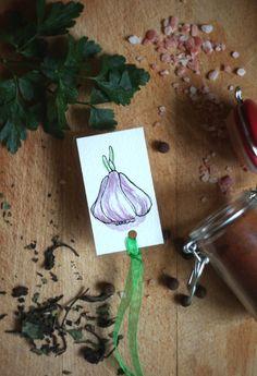 Paper & Card – Lord Garlic – Handmade bookmark – a unique product by virydi_art on DaWanda