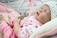 94.16$  Buy here - http://aliwo3.worldwells.pw/go.php?t=32390343397 - New 50CM fully silicone lifelike reborn baby doll wholesale baby dolls fashion doll Christmas gift new year gift