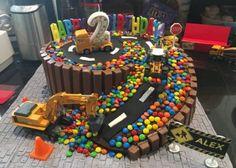 Super Birthday Cake Boys Construction Ideas Super Birthday Cake Boys Construction Ideas This image has get. Birthday Cake Kids Boys, Truck Birthday Cakes, Birthday Desserts, Birthday Cake Smash, Digger Birthday Cake, Birthday Ideas, Birthday Gifts, Cupcakes Lindos, Car Cakes For Boys