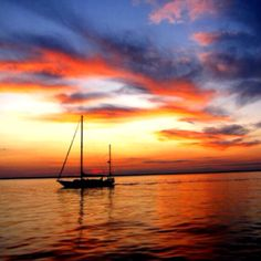 Summer sailing. Sunset.
