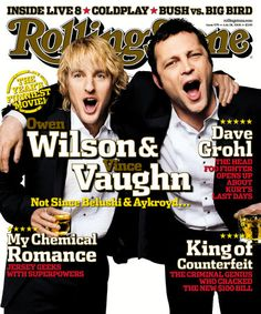 Owen Wilson and Vince Vaughn for Rolling Stones