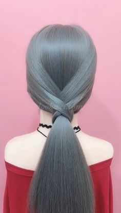 Braids Hairstyle Video Ideas - Simple Idea for a Low Ponytail Hairstyle . - Braids Hairstyle Video Ideas – Simple Idea for a Low Ponytail Hairstyle – - Low Ponytail Hairstyles, Elegant Hairstyles, Diy Hairstyles, Hairstyle Ideas, Simple Hairstyle Video, Simple Braided Hairstyles, Hairstyles For Girls, Low Ponytails, Newest Hairstyles