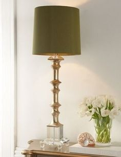 love this horchow lamp for the console over the cord cab.