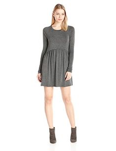 BCBGeneration Womens 34 Sleeve Baby Doll Dress Heather Charcoal XSmall * You can get additional details at the image link.(This is an Amazon affiliate link and I receive a commission for the sales) #FashionDresses