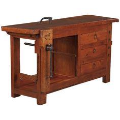 French Carpenteru0027s Workbench In Elm, ...