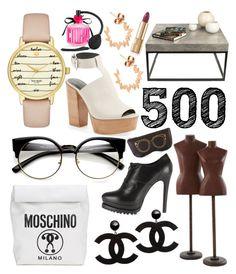 """500"" by xoxo-camellia on Polyvore featuring Rebecca Minkoff, Kate Spade, Jayson Home, TemaHome, Dolce&Gabbana, Moschino, Diane Kordas, Alaïa and Victoria's Secret"