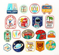 Camping Club Iron On Patch by MokuyobiThreads on Etsy Pin And Patches, Iron On Patches, Patches Tumblr, Camping Club, Pull Gris, Embroidery Patches, What To Pack, Stickers, Party Packs