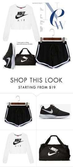 """""""workout w/ nike"""" by bbgshyia on Polyvore featuring NIKE"""