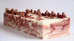 Rose Soap (before cut) Rose Soap, Soaps, Tiramisu, Bubbles, Ethnic Recipes, Food, Hand Soaps, Essen, Meals