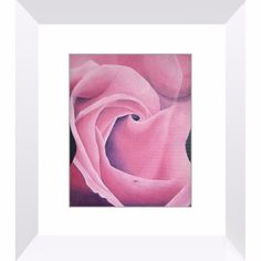 Blossom - Framed Print of Acrylic Paint Female Torso and Rose Monochromatic Fine Art