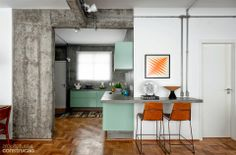 Home tour: industrial chic feminino