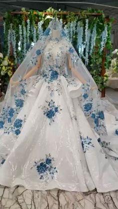 Shop High Quality 2020 Wedding Dresses Prom Dresses From Ostty! Big Dresses, Royal Dresses, Unique Prom Dresses, Pretty Dresses, Beautiful Dresses, Pretty Quinceanera Dresses, Fairytale Dress, Stylish Dress Designs, Vestidos Vintage