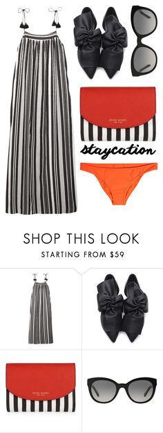"""Staycation"" by cherieaustin ❤ liked on Polyvore featuring Madewell, Henri Bendel, Burberry and Diane Von Furstenberg"