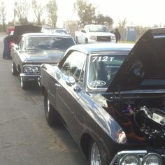 Tony and Ronnie lining up at the Drags;) fun times