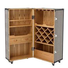 Wooden Wine Cabinet, Wine Bar Cabinet, Drinks Cabinet, Wine Cabinets, Bar Martini, Martini Bianco, Bar Storage Cabinet, Wine Storage, Storage Shelves