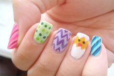 Inspiring Easter Acrylic Nail Artwork Patterns, Ideas, Trends & Stickers 2015 | Nail Art
