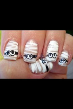Cute nails for next Halloween!