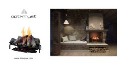 Dimplex's Opti-Myst Insert, Stunning Ultrasonic Technology with the illusion of flames and smoke. Baseboards, Electric Fireplaces, Hearth, Wall Mount, Indoor, Illusion, Mantles, Smoke, Technology