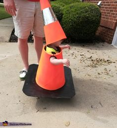 Halloween costumes for kids - Traffic Cone Halloween Costume Contest at CostumeWorks com – Halloween costumes for kids Disney Costumes For Kids, Halloween Costumes Kids Homemade, Halloween Costume Contest, Halloween Kostüm, Halloween Couples, Family Halloween, Diy Kids Costumes, Halloween Design, Scary Costumes