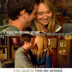 """heartlandsjourney: """" """"I used to dream about. Heartland Season 6, Amy And Ty Heartland, Heartland Quotes, Heartland Ranch, Heartland Tv Show, Ty Et Amy, Funny Horse Pictures, Daniel Lissing, Disney Memes"""