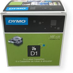 Newell Dymo 45013 D1 Labelling Tape 05Inch Width Black On White Print 5 Pack For Use with LabelManager 160 210D 210D Kit 260P 280 PnP 360D 420P 450D Wireless PnP 500TS and 450DUO * ** AMAZON BEST BUY **  #WirelessPrinters