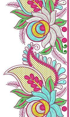 Sari Border Lace Brocade Sequins Embroidery Design