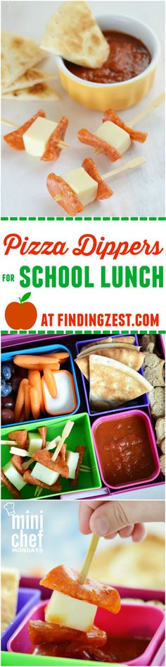 Pizza Dippers for School Lunch or Snack: Pizza Dippers for School Lunch: Looking for new kid-friendly lunch ideas? Try these pizza dippers for school lunch, a quick no-bake option that offers the pizza taste you love. Also works great as a game day appeti