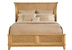 "Cindy Crawford Home Sunset Isles Ash Woven 3 Pc King Bed at Rooms To Go. For a tropical feel in our master bedroom! I will also add the dark brown end tables and dresser to accent the bed.... I dont want it all ""cookie cutter""."