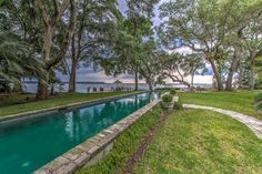 Take in the private beach, deep-water dock, and the lap pool with a view.