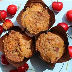 """Gluten-Free Cherry Cobbler Muffins I """"Great muffins! They really did taste like cherry cobbler."""""""