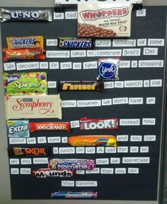 Happy Boss's Day Candy Bar Poster! :-)