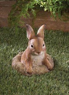 Garden Bunnies Statues
