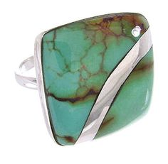 Sterling Silver Turquoise Ring Size 5-1/4 Jewelry MW63845