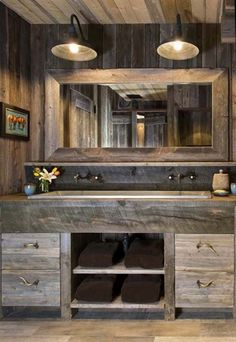 51 Industrial Rustic Master Bathroom Design Ideas For A Vintage Lover Decoration # Rustic Master Bathroom, Bathroom Vanity Decor, Rustic Bathroom Designs, Rustic Bathroom Vanities, Rustic Bathroom Decor, Rustic Bathrooms, Simple Bathroom, Rustic Decor, Bathroom Ideas
