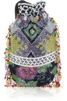 We love this Matthew Williamson beaded bag - it matches perfectly with the vibrant colors of Cape Town!