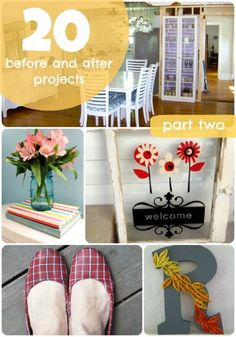 Great Ideas  20 Before  After Projects: part two!!