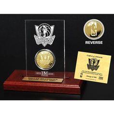 Dallas Mavericks Champions Desktop Acrylic Case with Coin