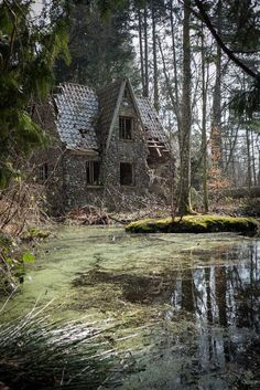 ghostlywatcher:  Abandoned house in a forest Denmark.