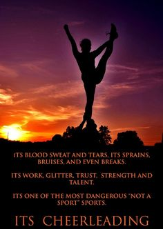 cheer quotes No matter what anyone says cheer is more then a sport then any other. Cheer Qoutes, Cheerleading Quotes, Athlete Quotes, Yoga Mom, Cheer Dance, Blood Sweat And Tears, Yoga Quotes, Cheer Bows, How To Stay Motivated